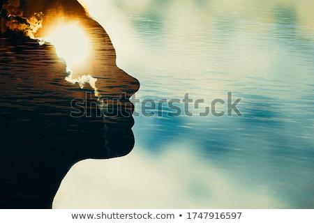 Elmebaj 3D generált kép fej emberi Stock fotó © flipfine