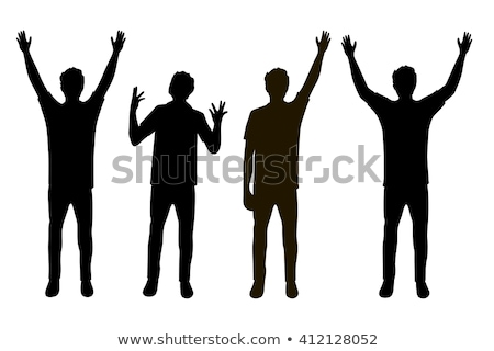 hands up silhouettes stock photo © derocz