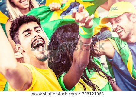 Football ballon pavillon isolé blanche monde Photo stock © axstokes