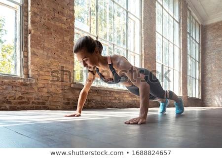 красивая девушка полу воды улыбка спорт Сток-фото © Nejron