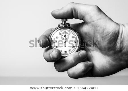 Retro kronometre beyaz spor arka plan çalışma Stok fotoğraf © romvo