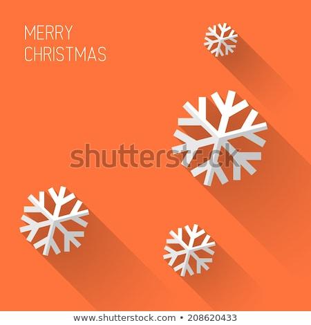 Stock photo: Modern minimalistic  christmas card with long shadows