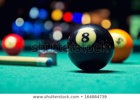 bilardo · masası · yeşil · dizayn · eğlence · siyah · oynamak - stok fotoğraf © karammiri