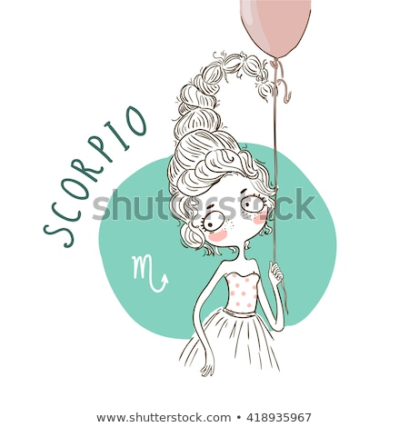 zodiac horoscope sign scorpio with a beautiful girl stock photo © bluelela