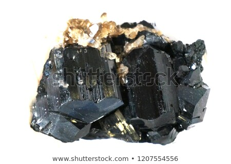 Minéral isolé noir blanche Rock cristal Photo stock © jonnysek