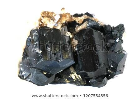 Minerale isolato nero bianco rock cristallo Foto d'archivio © jonnysek