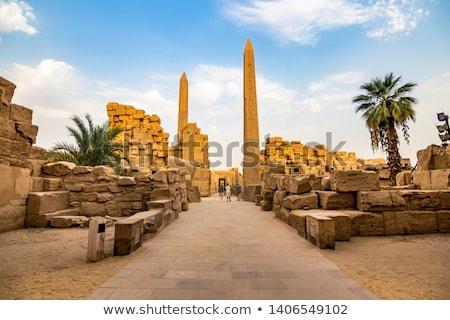 Egyiptom · templom · völgy · Luxor · felirat · ír - stock fotó © eleaner