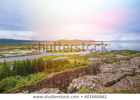 İzlanda akşam görmek dağ yaz Stok fotoğraf © 1Tomm