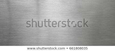 Acero inoxidable textura agradable metal resumen diseno Foto stock © jonnysek