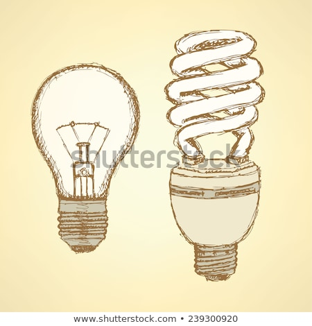 sketch economic light bulb in vintage style stock photo © kali