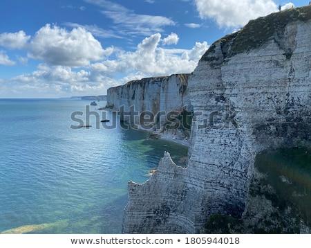 Stock fotó: Mészkő · sziklák · jeges · part · sziget · Balti-tenger