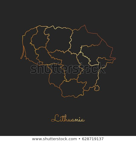 Silhueta mapa Lituânia assinar branco Foto stock © mayboro