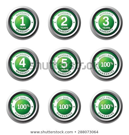 лет гарантия зеленый вектора икона кнопки Сток-фото © rizwanali3d