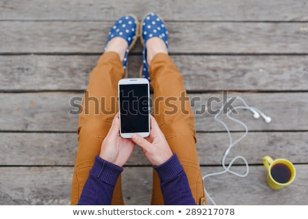 Stock photo: Woman Using Mobile Smart Phone Outdoors