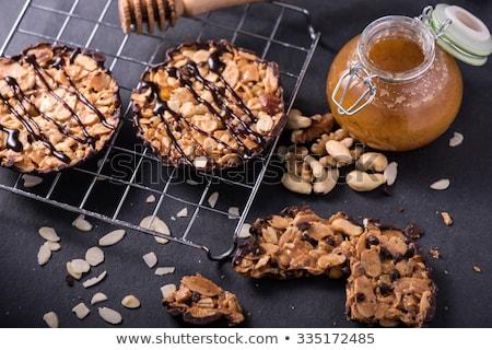 almond florentine biscuit food background Stock photo © zkruger