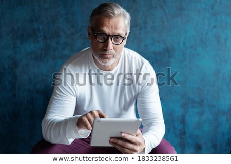 digitale · tablet · houten - stockfoto © andreypopov