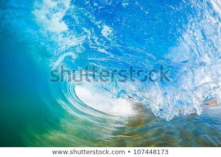 vague · à · l'intérieur · creux · océan · eau · vue - photo stock © ChrisVanLennepPhoto