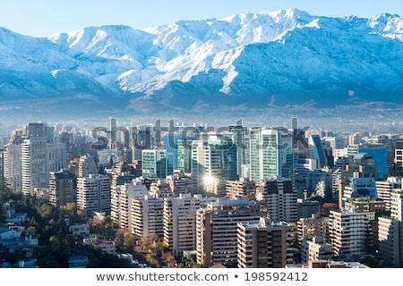 görmek · Santiago · Şili · güney · amerika · gökyüzü · şehir - stok fotoğraf © meinzahn