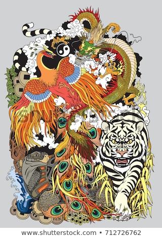 Chinois symboles texture design peinture fond Photo stock © PokerMan