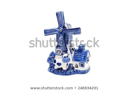 голландский · мини · Windmill · белый · карт - Сток-фото © peter_zijlstra