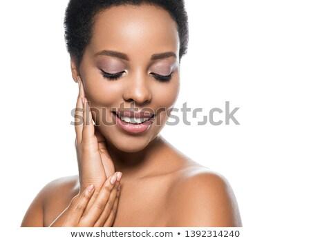 africano · mulher · molhado · belo · artístico - foto stock © neonshot