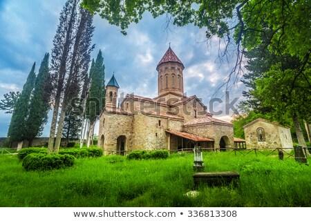 Monasterio región Georgia famoso cielo Foto stock © Taigi