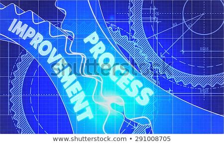 produktiviteit · verbetering · blauwdruk · versnellingen · industriële · ontwerp - stockfoto © tashatuvango