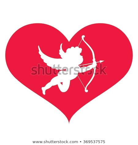 San valentino angelo rosso cuore ali Foto d'archivio © LVJONOK