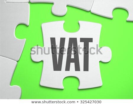 ÁFA kirakós játék hiányzó darabok érték adó Stock fotó © tashatuvango