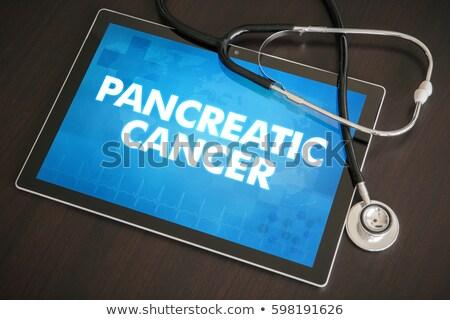 Pancreatitis on the Display of Medical Tablet. Stock photo © tashatuvango