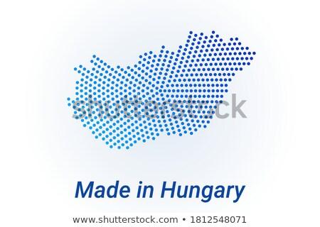 Hongarije land vlag kaart vorm tekst Stockfoto © tony4urban