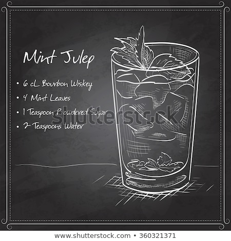 cocktail mint julep on black board stock photo © netkov1