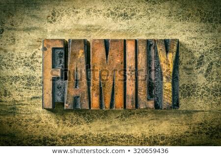 antique letterpress wood type printing blocks   home stock photo © zerbor