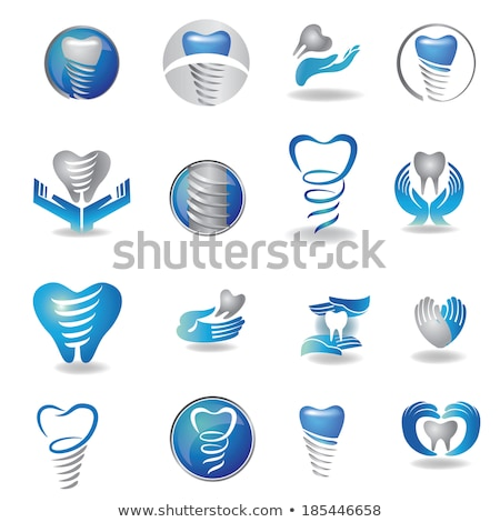 dental symbol collection clean and bright designs stock photo © netkov1