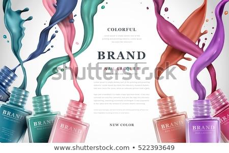 unha · polonês · fragrância · garrafa · garrafas · isolado · branco - foto stock © gigi_linquiet