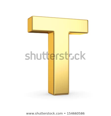 The letter T as a polished golden object with clipping path Stock photo © creisinger