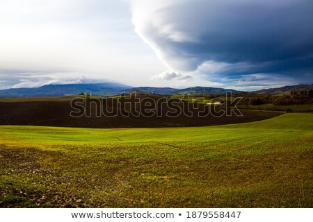 Zivatar Toszkána égbolt felhők nap nyár Stock fotó © Dar1930