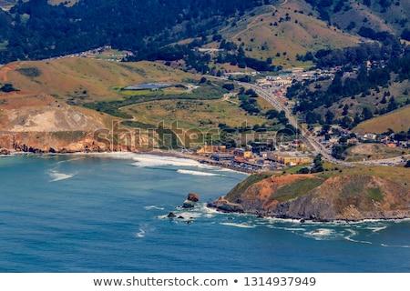 kaya · oluşumu · sahil · su · yaz · okyanus · mavi - stok fotoğraf © yhelfman