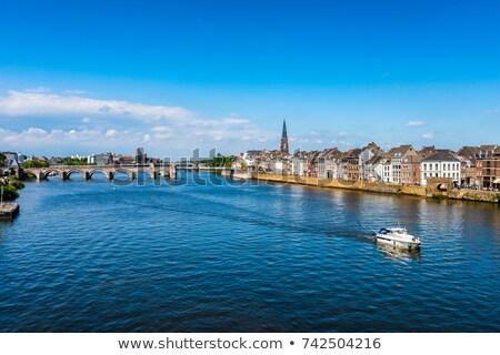 Bridge on Meuse River in Maastricht Stock photo © benkrut