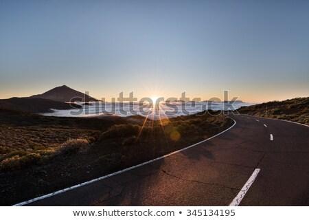 Paisagem tenerife rochas lava céu Foto stock © Hofmeester