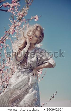 Portré lenyűgöző szőke nő szépség szexi divat Stock fotó © konradbak