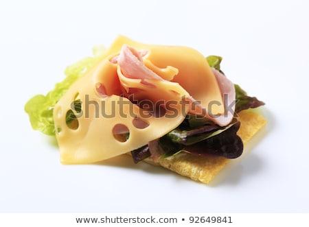Sonka sajt csíkok szendvics senki közelkép Stock fotó © Digifoodstock
