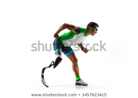 handicap man running stock photo © Twinkieartcat
