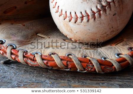 Bőr baseball kesztyű makró sportok játék Stock fotó © njnightsky