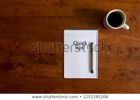 Studio segno tavolo in legno clock business ufficio Foto d'archivio © fuzzbones0