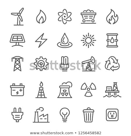 Foto stock: Energia · ícones · ilustração · diferente · cor · bateria
