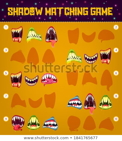 Spel sjabloon matching kinderen tand illustratie Stockfoto © bluering