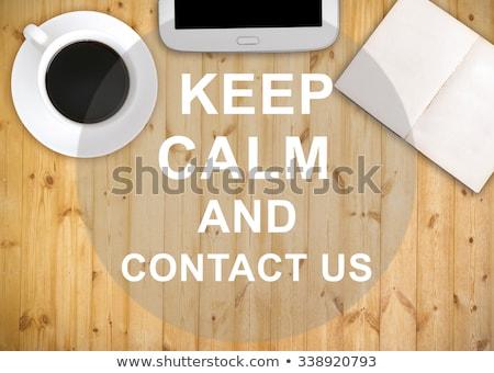 Higgadt fa asztal szó iroda óra gyermek Stock fotó © fuzzbones0