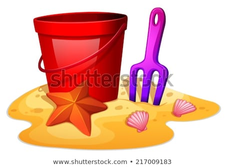 Things needed to form a sand castle Stock photo © bluering