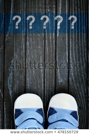 子供 靴 言葉 よくある質問 木製のテーブル オフィス ストックフォト © fuzzbones0